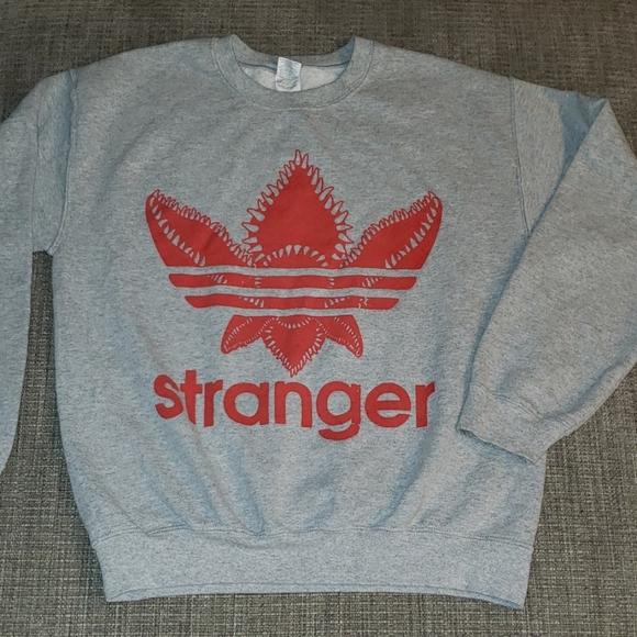 Gildan Tops Stranger Things Adidas Sweatshirt Sz Medium Poshmark